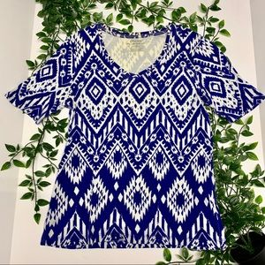 Chico's Blue Printed Top (0)